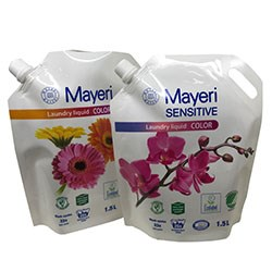 1.5L liquid soap packaging pouch with nozzle
